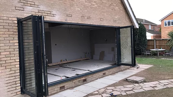 Anthracite 6 leaf bifold door